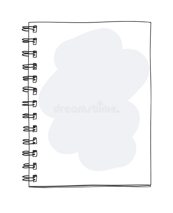 Illustratör för vektor för konst för mellanrumsanteckningsbok handdrawn gullig stock illustrationer