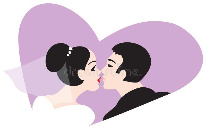 Illustrat亲吻向量婚礼