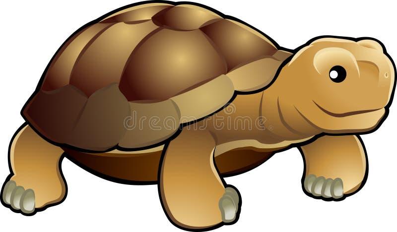 Illustrat bonito do vetor da tartaruga ilustração do vetor