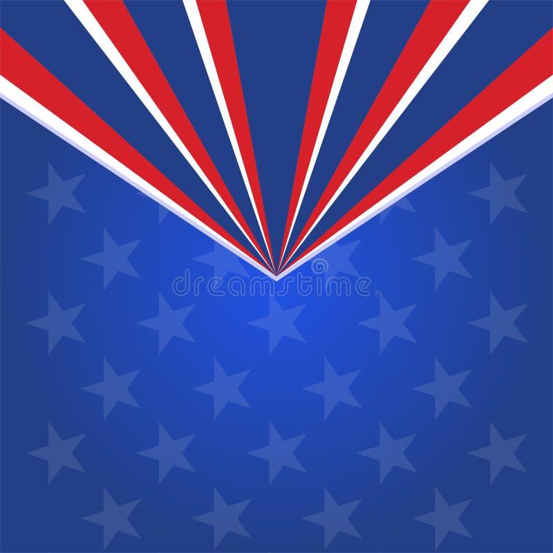 Illustrat de vecteur de conception de l'avant-projet de drapeaux de drapeau américain de vecteur d'actions illustration libre de droits