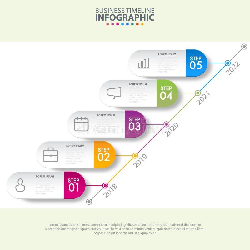 Illustrat del gráfico de la plantilla de los elementos del diseño del infographics del negocio stock de ilustración