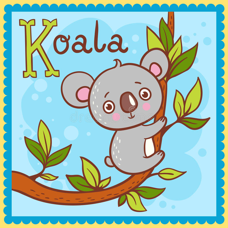 Download Illustrated Alphabet Letter K And Koala. Stock Vector - Image: 33314096