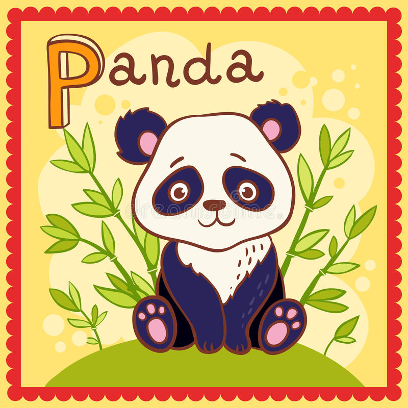 Download Illustrated Alphabet Letter P And Panda. Stock Vector - Image: 33323914