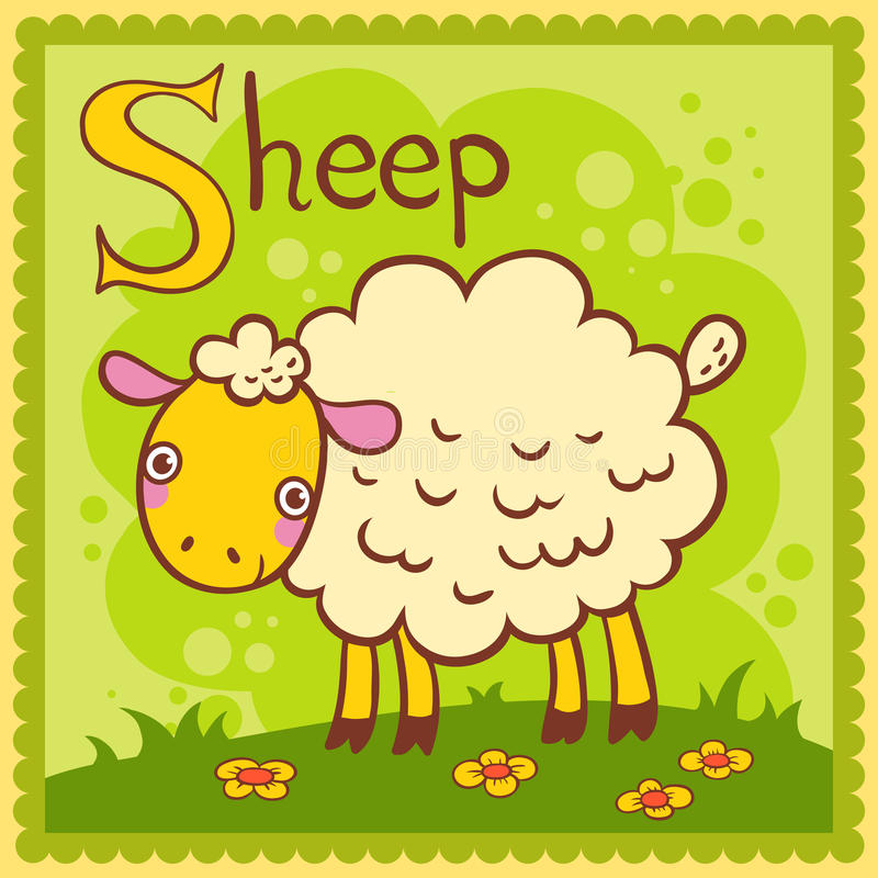 Download Illustrated Alphabet Letter S And Sheep. Stock Vector - Illustration: 33326525