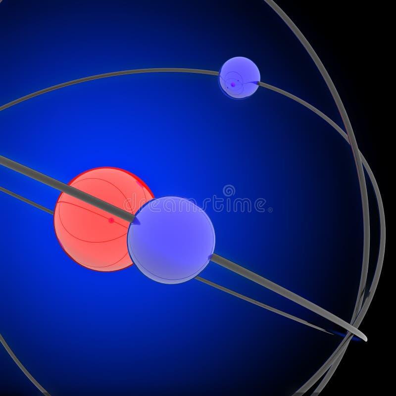 Illustrated atom