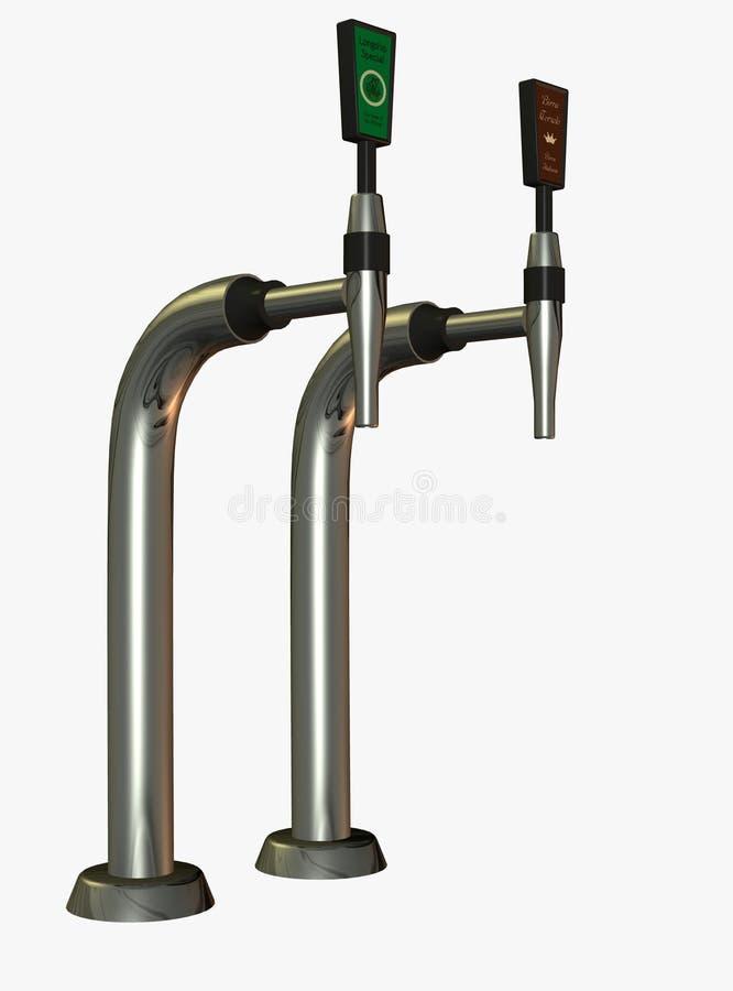 Download Illustrated beer taps stock illustration. Illustration of beverage - 13089904