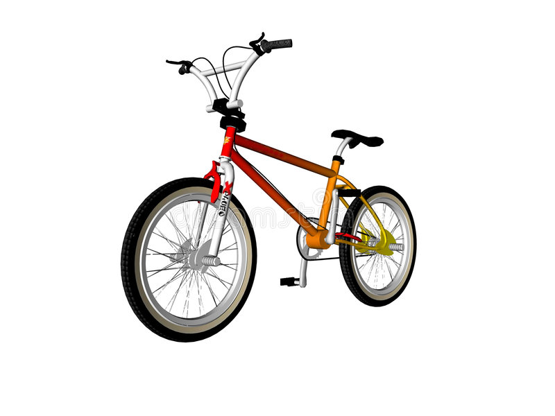 Illustrated Bicycle vector illustration