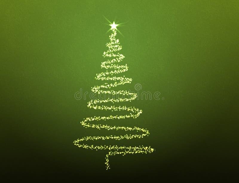 Illustrated Christmas tree stock illustration