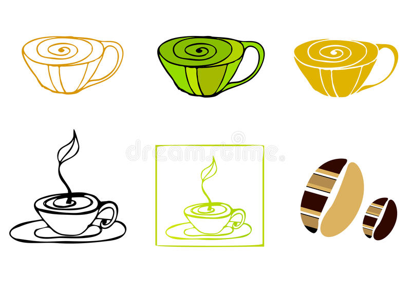 Download Illustrated coffee icons stock vector. Illustration of espresso - 15984233