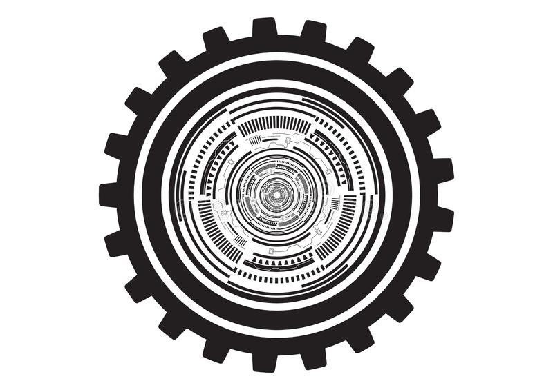 Illustrated Cogs vector. Is a general illustration vector illustration