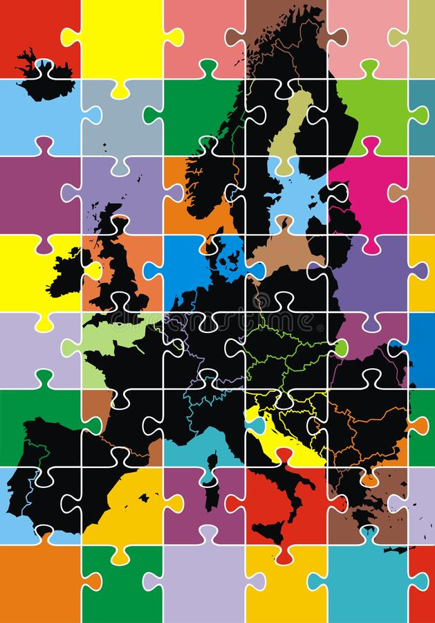 Download Europe map stock vector. Image of clip, germany, art - 29890664