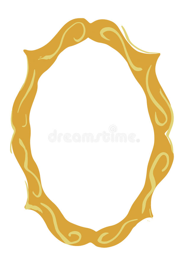 Illustrated Decorative Frame Design Element. An illustrated decorative element inspired by classical fairy tales royalty free illustration