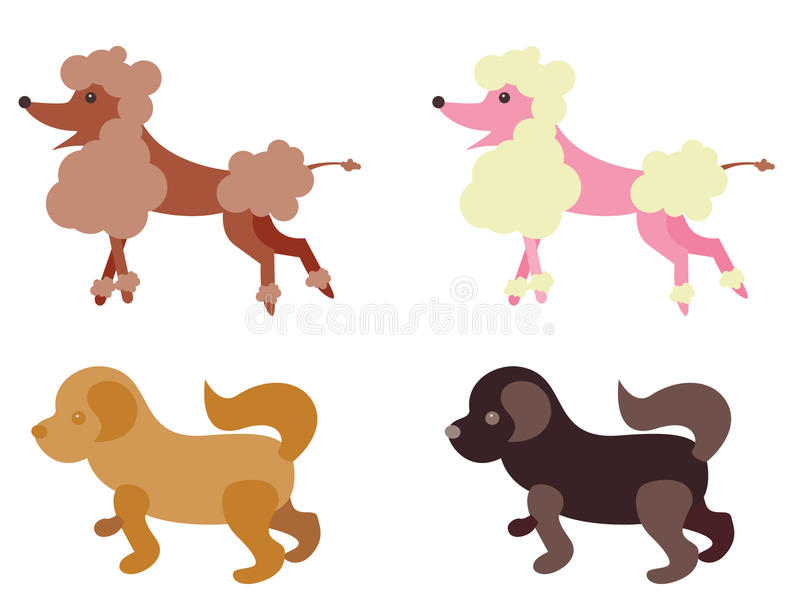 Download Illustrated dogs stock vector. Image of hairy, canine - 10508520