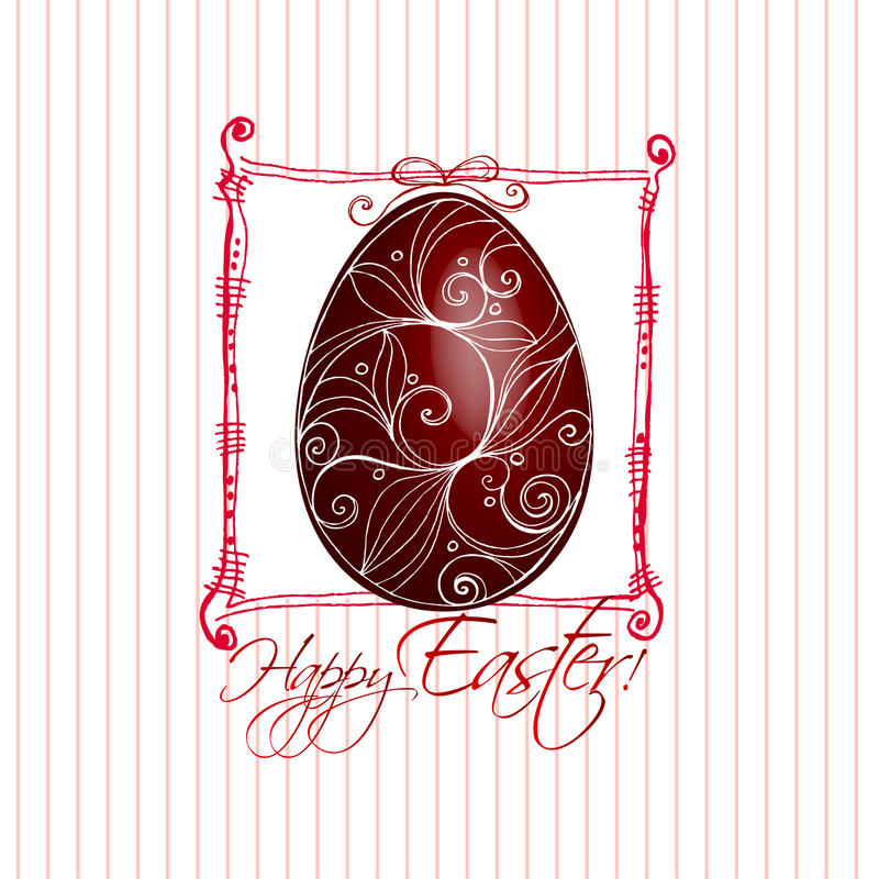 Illustrated Easter card design stock photo