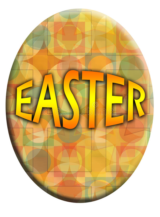 Illustrated Easter Eggs Royalty Free Stock Images