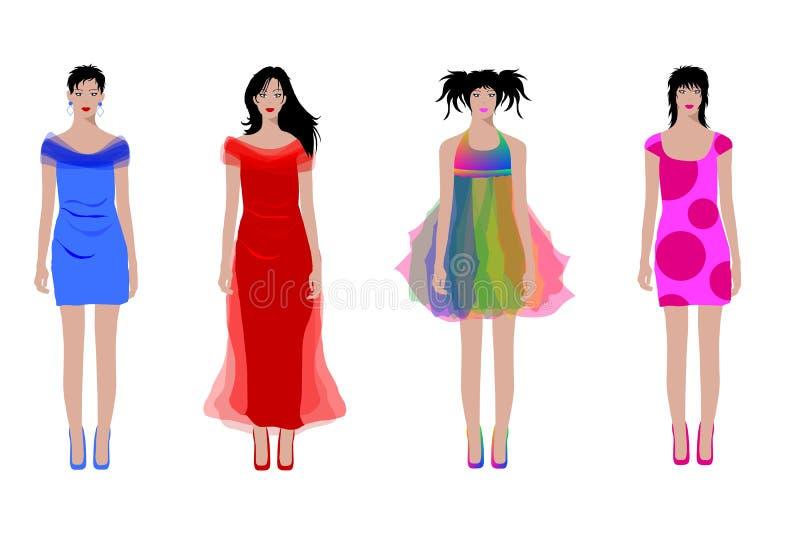 Illustrated Fashion Women Stock Image