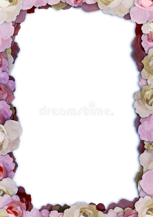 Illustrated Floral Frame Royalty Free Stock Photography
