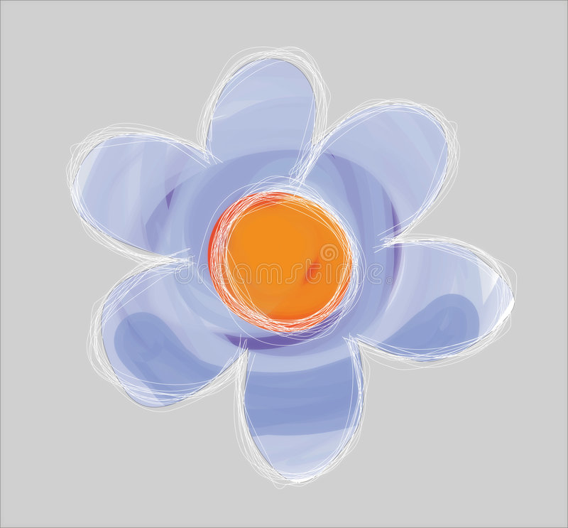 Illustrated flower royalty free illustration