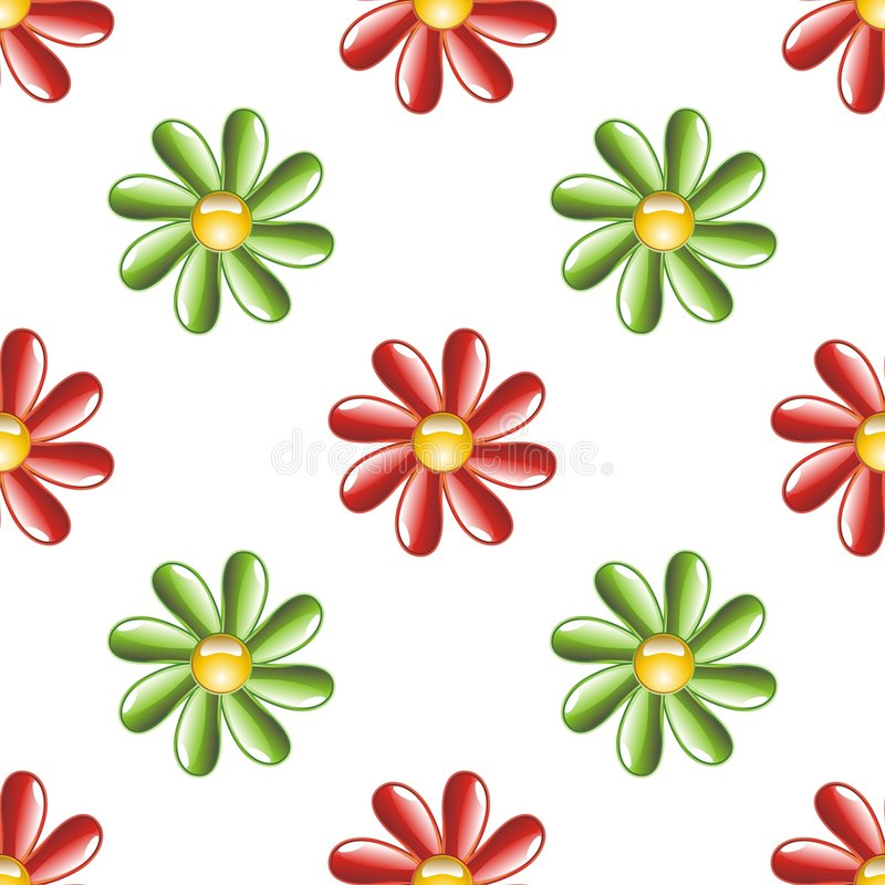 Download Illustrated Flower Background Stock Vector - Illustration of reddish, isolated: 8398174