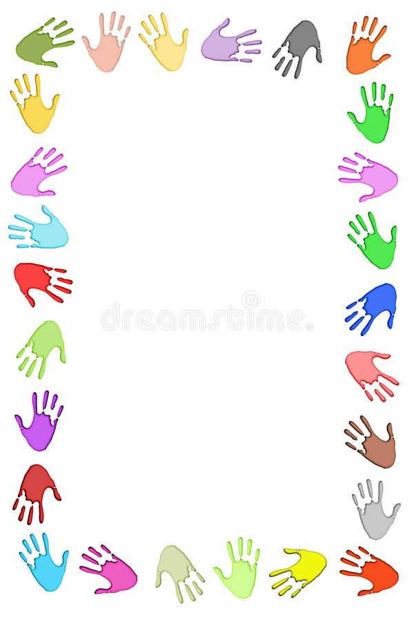 Handprint Frame royalty free stock photo