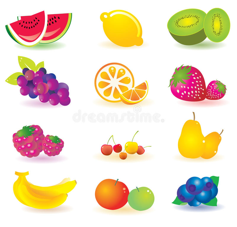 Download Illustrated fruit stock vector. Illustration of fruits - 11129154