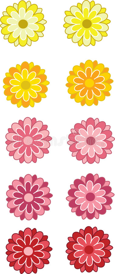 Free Illustrated Gerbera Flowers Stock Photography - 8406592