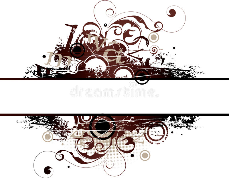Download Illustrated grunge banner stock vector. Image of space - 6771994