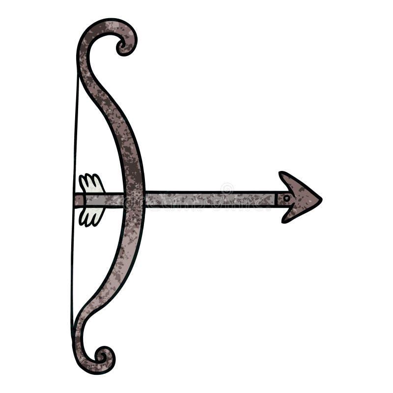 Cartoon Bow Arrow Tool Weapon Medieval Free Hand Drawn