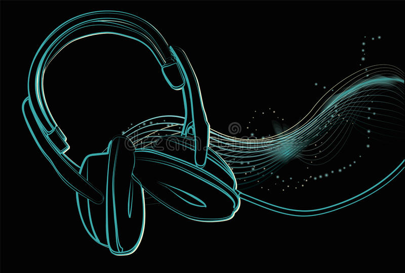 Download Illustrated Headphones With Sparkles Royalty Free Stock Photos - Image: 10270008