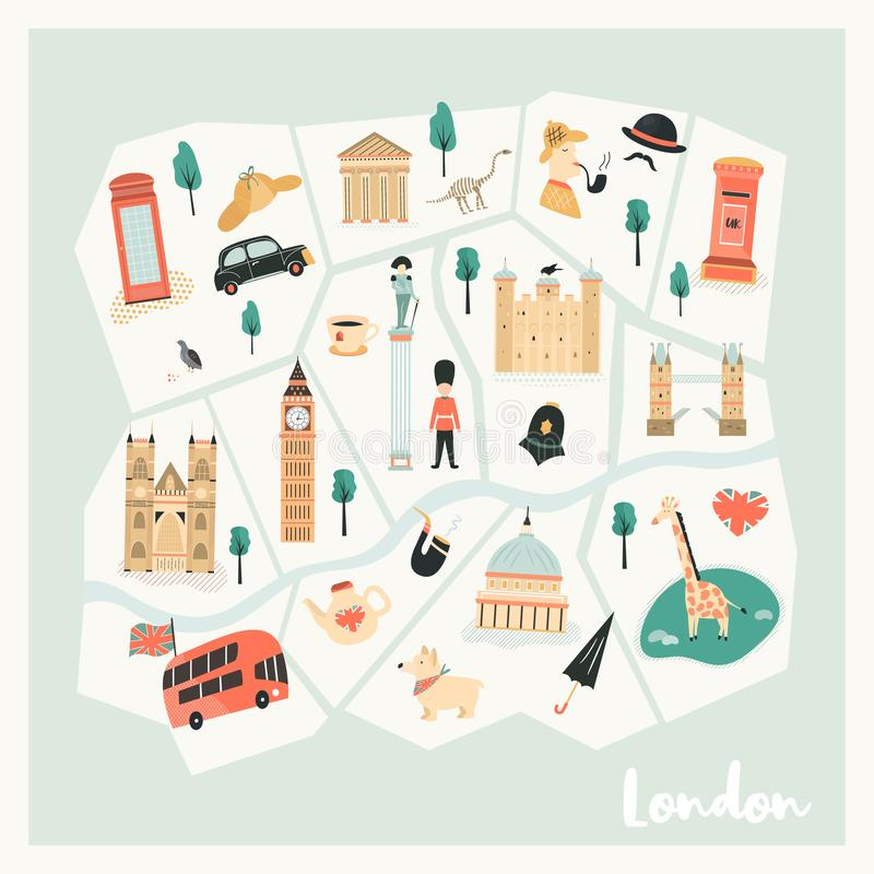 London Landmarks Map.Map London Landmarks Stock Illustrations 575 Map London Landmarks