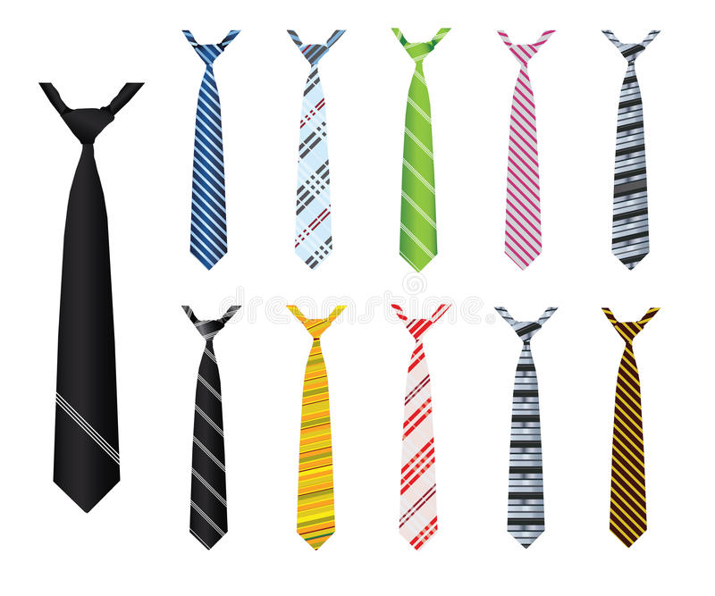 Download Illustrated neck ties stock vector. Image of neck, tack - 26652275