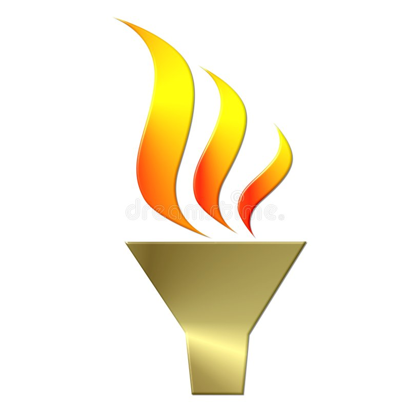 Illustrated Olympic torch stock illustration
