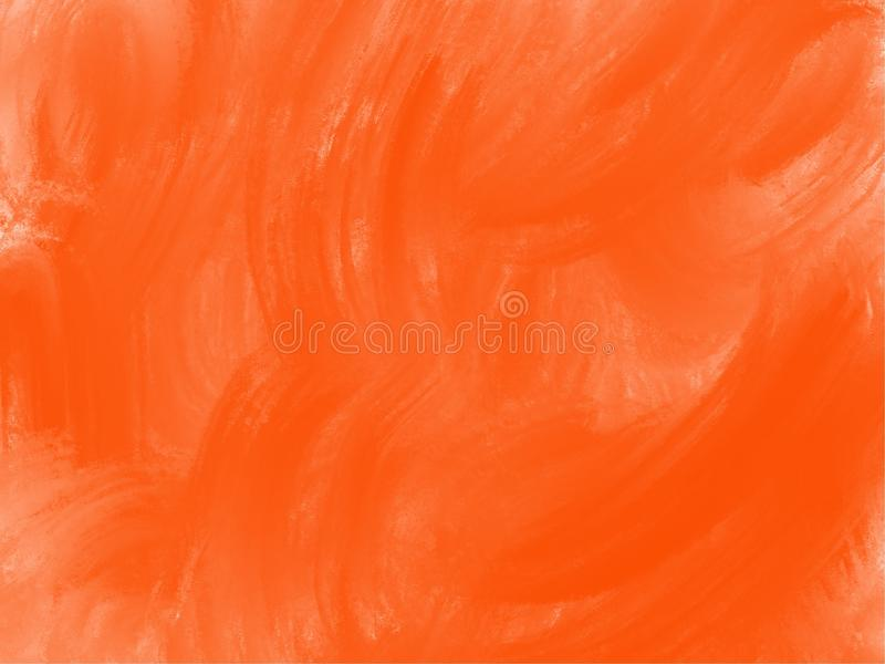 Illustrated orange paint background stock illustration