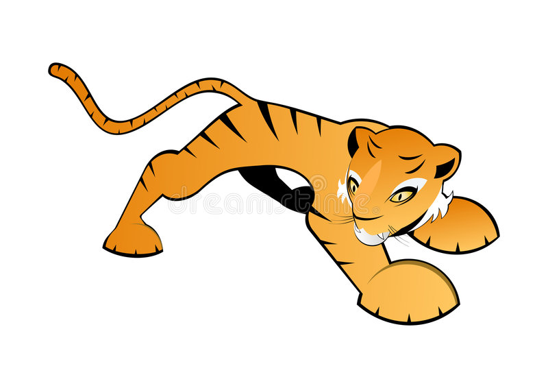Download Illustrated orange tiger stock illustration. Image of graphic - 7596415