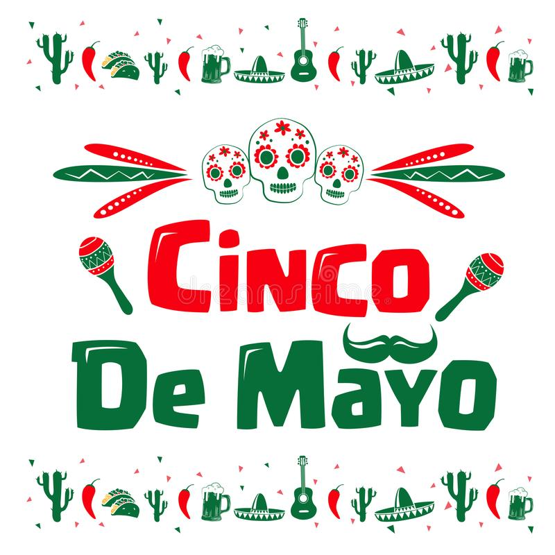 Cinco de Mayo sign stock illustration
