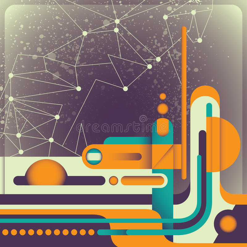 Illustrated Retro Abstraction. Stock Image