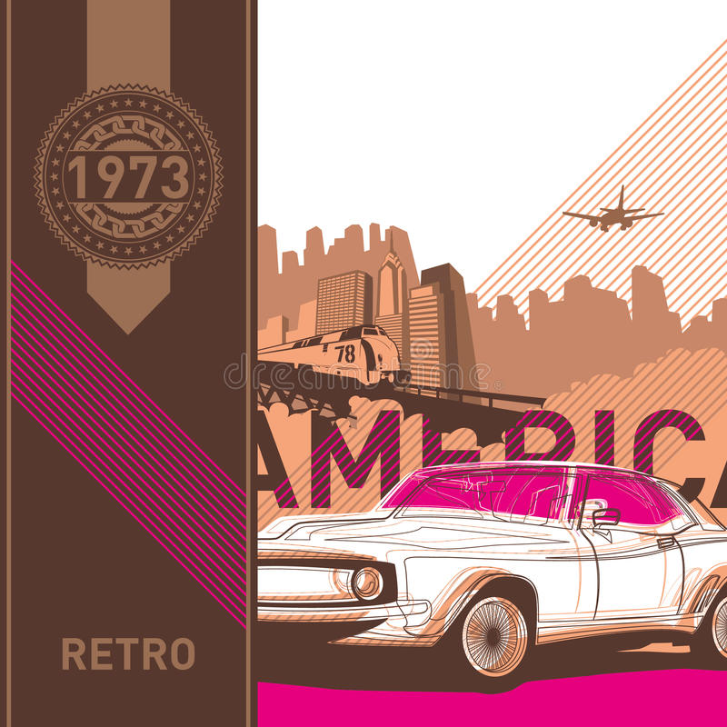 Download Illustrated Retro Background. Stock Vector - Image: 19910833