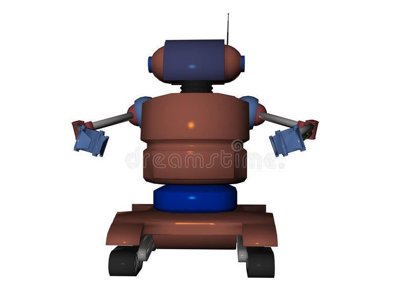 Illustrated Robot royalty free illustration