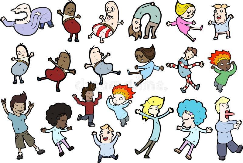 Download Illustrated set of people stock illustration. Illustration of colour - 21323213