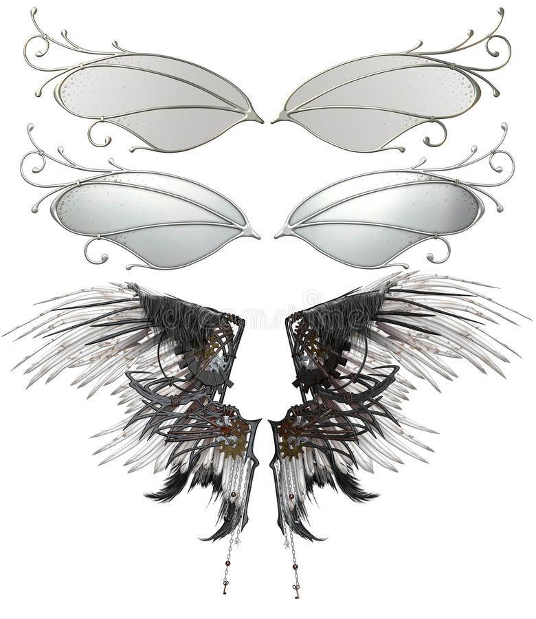 Illustrated set of wings