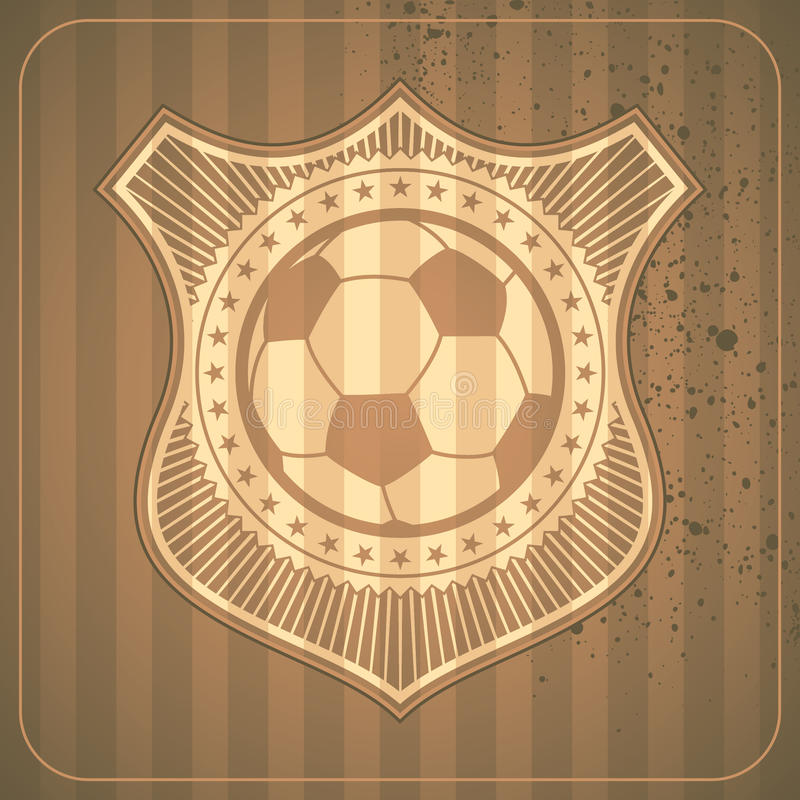 Illustrated Soccer Crest. Stock Images