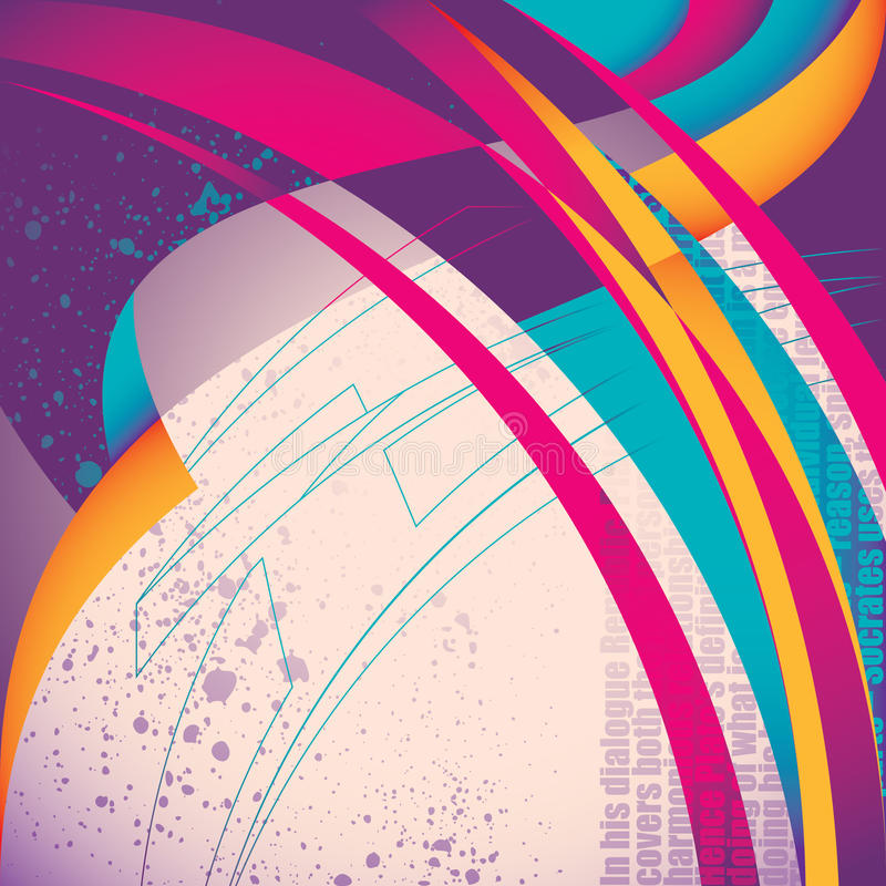 Download Illustrated Stylish Abstraction. Stock Vector - Image: 20869703