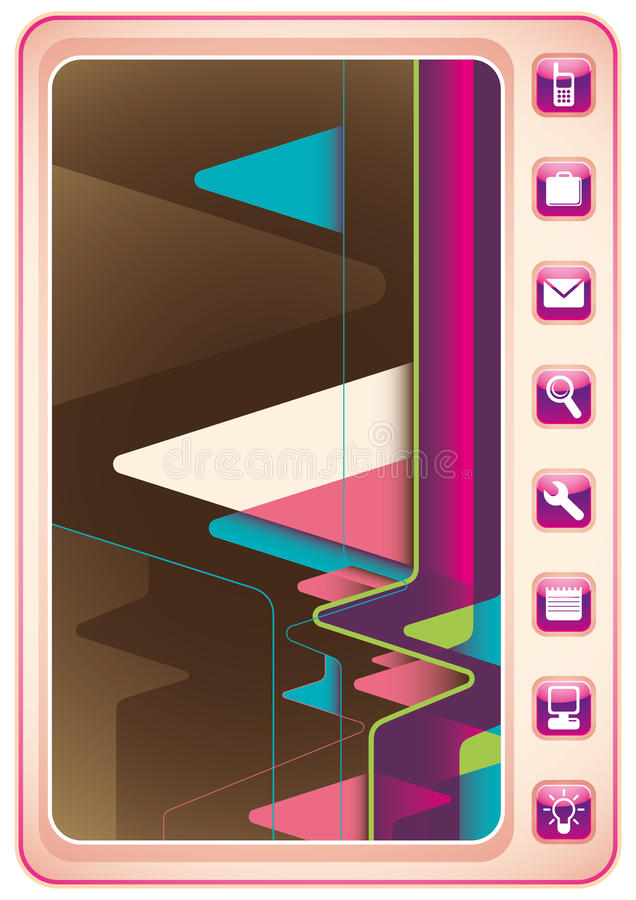 Illustrated technology abstract poster. royalty free illustration