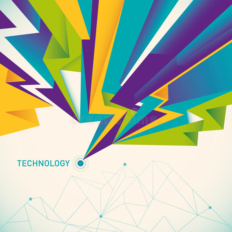 Illustrated Technology Abstraction. Royalty Free Stock Photography
