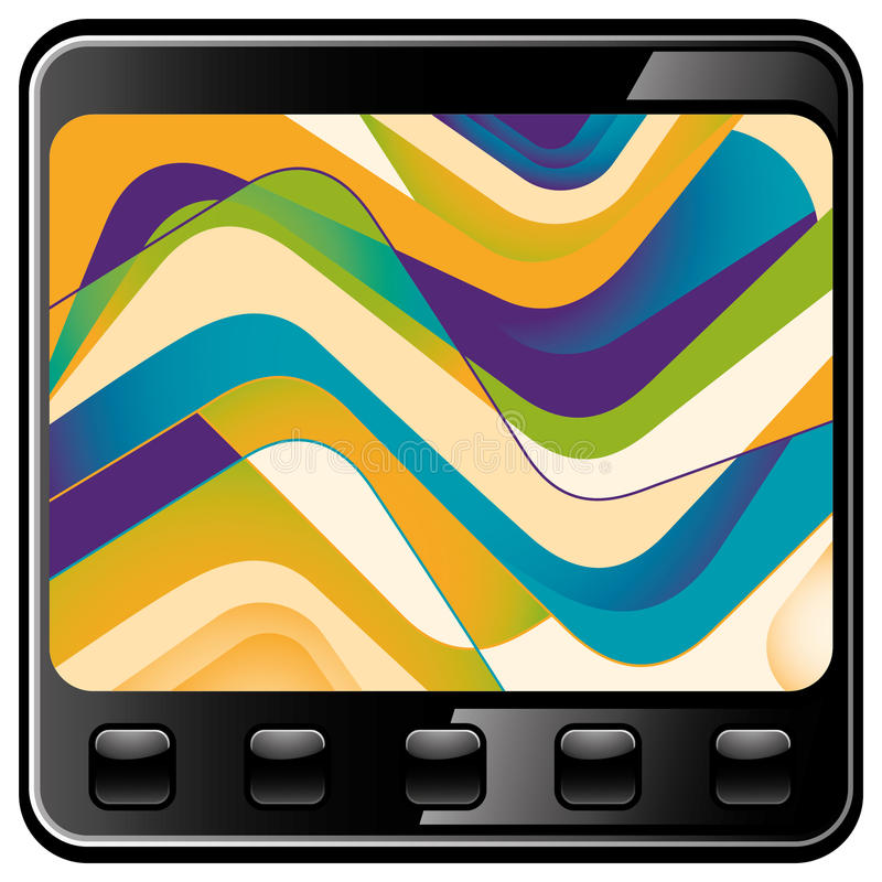 Download Illustrated Technology Abstraction. Stock Vector - Image: 22026942