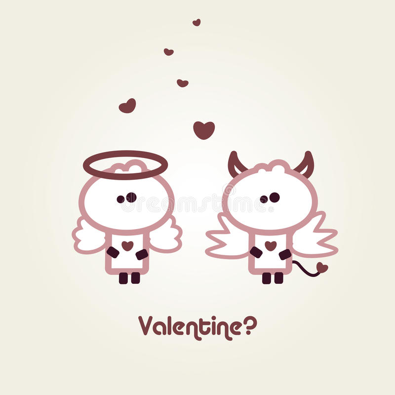 Illustrated valentines card