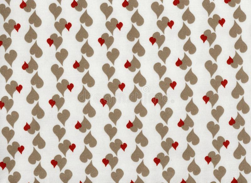 Illustrated wallpaper of small hearts repeated regularly. stock illustration