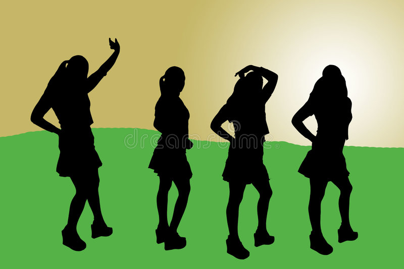 Download Illustrated woman-3 stock illustration. Image of dancing - 87492