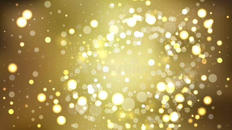 Illustrateur d'arrière-plan Gold Blur Lights illustration de vecteur