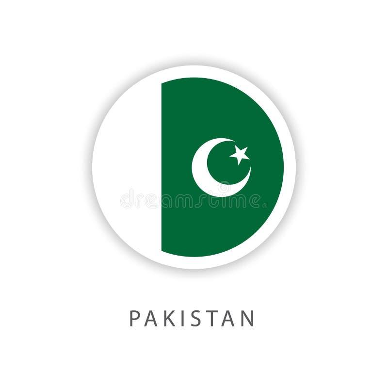 Illustrateur de conception de calibre de vecteur de drapeau de bouton du Pakistan illustration de vecteur